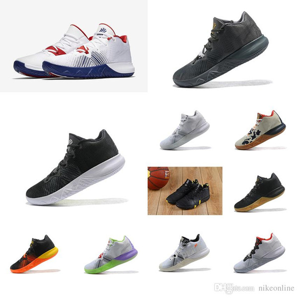Cheap new Men Kyrie Flytrap basketball shoes USA White Blue Red Black Gold Irving 4 IV low cut air flights sneakers boots tennis for sale