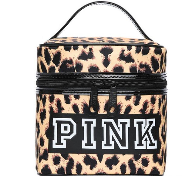 Pink Cosmetic Bag Fashion Makeup Bag Women Gril Travel Nylon Make Up Bags Zipper Portable Storage Bag Mix Colors 10 Pairs