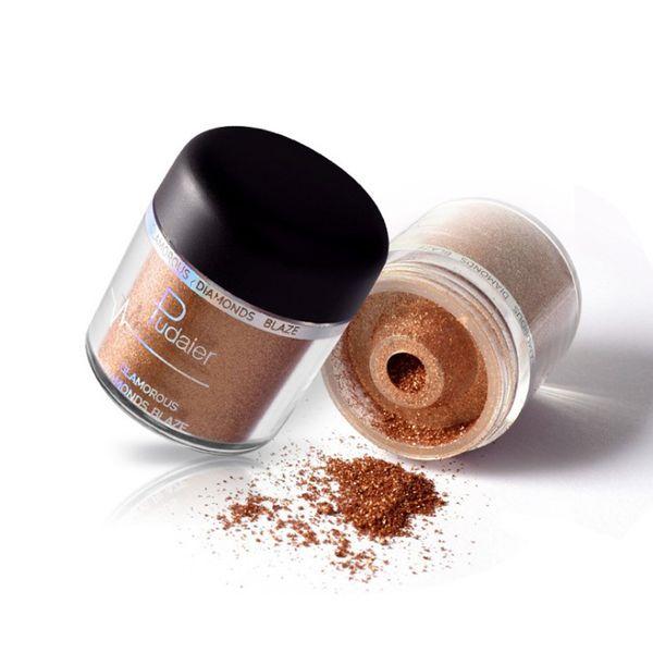 Nueva sombra de ojos Pudaier y polvo para resaltar Glitter Metallic Powder Sombra de ojos Pigmentos Fácil de usar Resistente al agua Shimmer Eye Shadow Powder