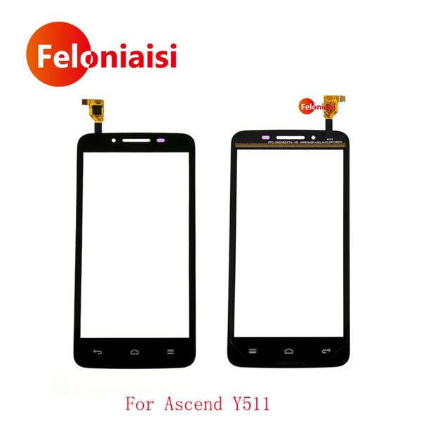 """High Quality 4.5"""" For Huawei Ascend Y511 Touch Screen Digitizer Sensor Outer Glass Lens Panel Black White+Tracking Code"""