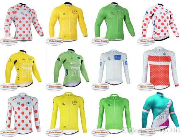 Tour de France Winter thermal fleece long sleeves cycling jersey Bicycle Clothes MTB Bike long sleeves C2026