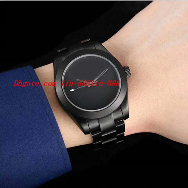 Luxus-Armbanduhr Top-Qualität 2018 Herren Edelstahl 40mm PVD Blank Zifferblatt automatische mechanische Uhr Männer Uhren