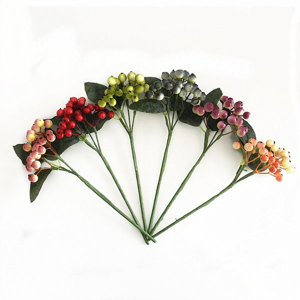 10 pcs/lot Hot Sale Home Decorative Tree Branch 9 inch Artificial Foam Berry pick free shipping