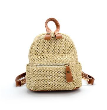 New handmade weave small shoulder backpacks women single shoulder bags lady casual travel totes 3 color no63