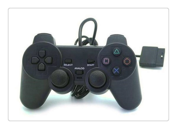 Free Shipping For PS2 Controller Wired Dual Vibration Joystick For PS2 Playstation 2 Controller