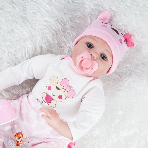 23 pouces / 57cm poupées rebondies Corps en silicone plein reborn bébé garçon poupées de couchage filles de bain réaliste véritable vinyle Bebe Brinquedos Reborn Bonecas