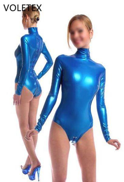 Voletex Latex Catsuit Rubber Swimsuit Latex Women Unitard Catsuit Zentai Suit Style Fetish Party Wear