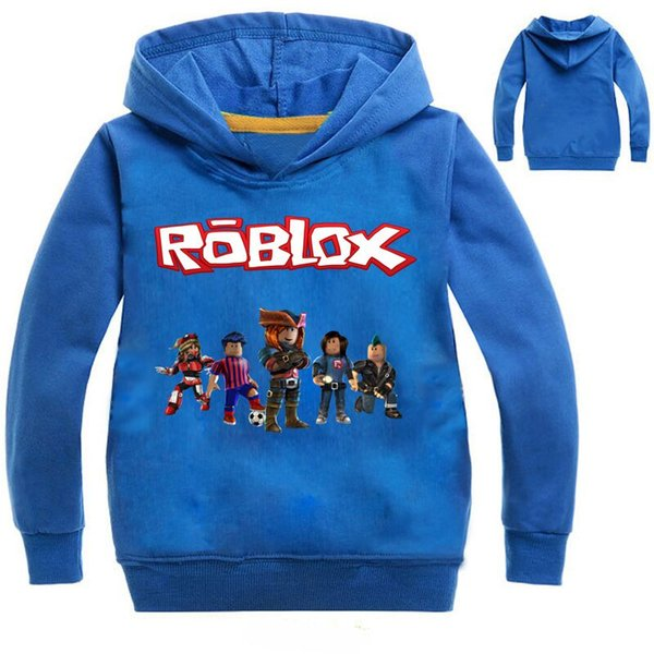best selling 2-12Years Top Roblox Shirt Boys Hoodies Teenagers Ape Girls Sweatshirt Bebes Kids Jumper Fall Breakdance Clothes Nova