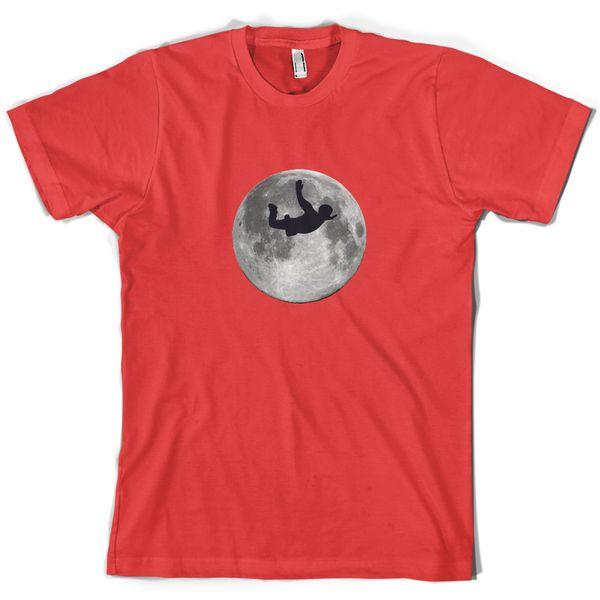 Sky Diving Moon camiseta para hombre Dive Diver Free Falling 10 colores