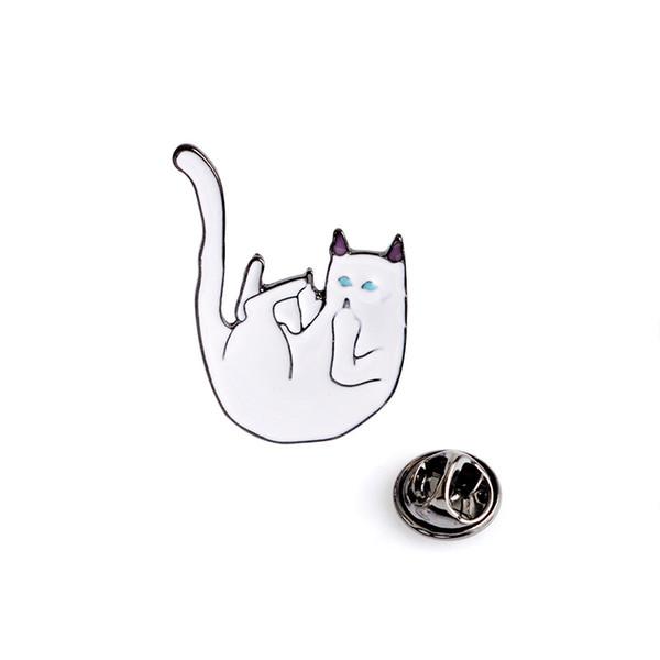 6 style RIPNDIP broches hommes femmes bad cat accessoires de vêtements personnels badge bouton Corsage garçon fille couple doigt du doigt de chat pins