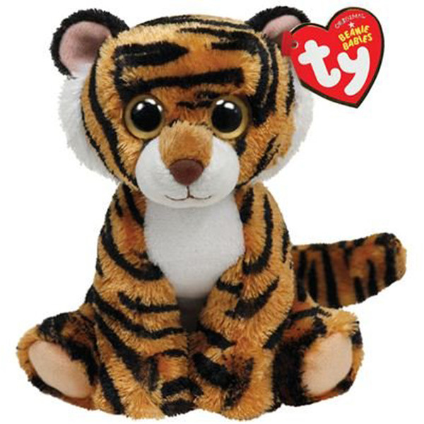 """Pyoopeo Ty Beanie Babies 6"""" 15cm Stripers Tiger Plush Regular Soft Stuffed Big-eyed Animal Collection Doll Toy with Heart Tag"""