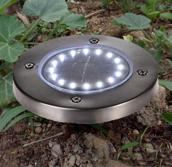 YENI Su Geçirmez 16 LED Güneş Yeraltı Işıkları Paslanmaz Çelik Açık Güneş Gömülü Zemin Işık Açık Bahçe Yolu Zemin Lambası LLFA