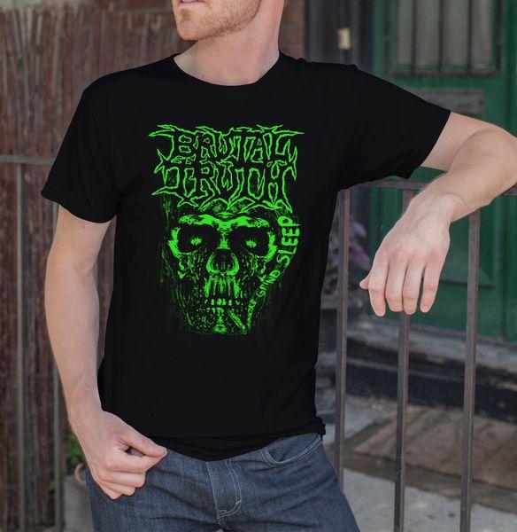 Brutal Truth Men Черная футболка Death Grindcore Band Fan Tee Shirt Размер S-Xxl 4 Футболка Мужчины Смешно с коротким рукавом Мода на заказ 3XL Team Tee Sh