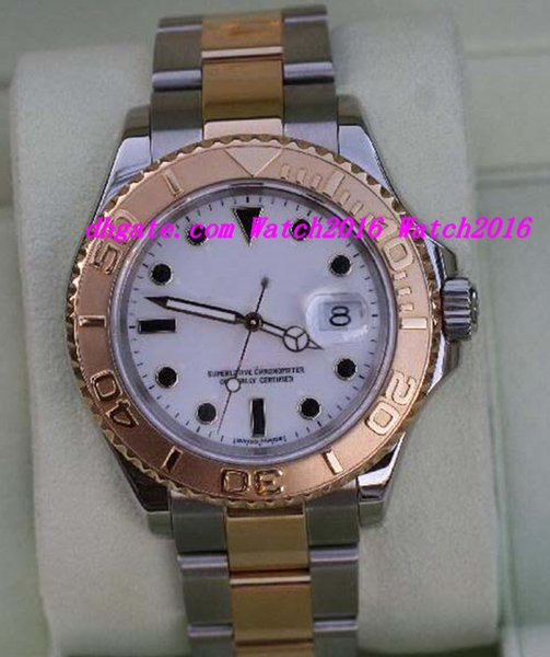 Luxury Watches Top Quality MENS 16623 TWO TONE 18K GOLD STAINLESS STEEL YEAR 2005 WATCH 40mm Mechanical Fashion Men's Wristwatch