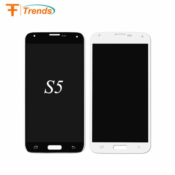 Lcd di ricambio per telefono cellulare originale nero bianco oro per display lcd touch screen per Samsung Galaxy S5