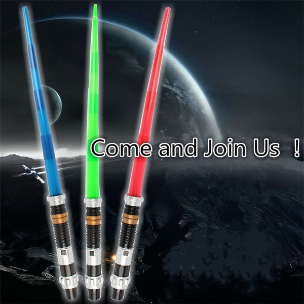 New free shipping laser sword Lightsaber Light Saber Telescopic Weapons laser Sword Toy with Light Cosplay Toys B0367