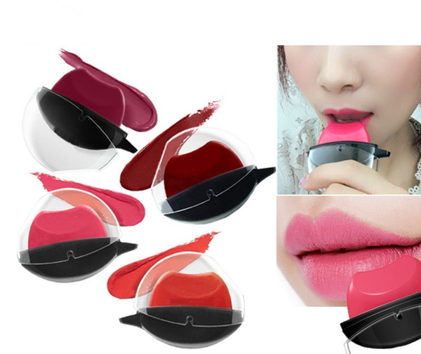 2017 hot! The Fashion Lazy Lipstick series makeup 4colors:#1 Deep red, #2 Pumpkin color, #3 light purple, #4 pink free ship