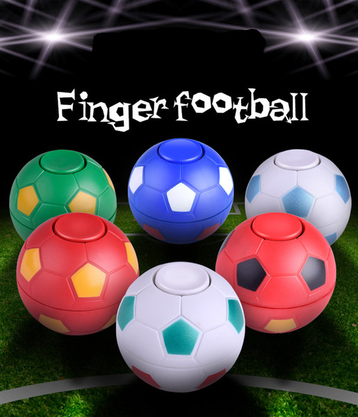 Wholesale two styles Colorful Newest plastic Hand football spinner finger football leisure decompression toys with retail box