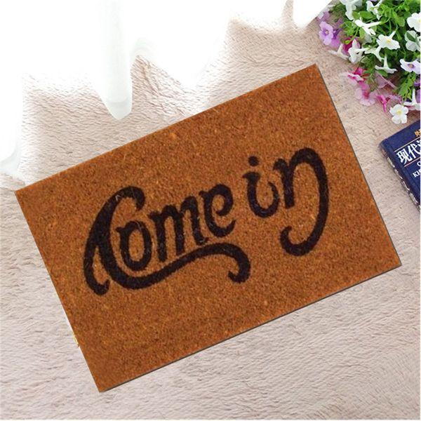 New Modern Rubber Floor Home Front Door Entry Welcome Mat Carpet Outdoor Funny Doormat For Entrance Door Anti Slip Bedroom Rug Blanket
