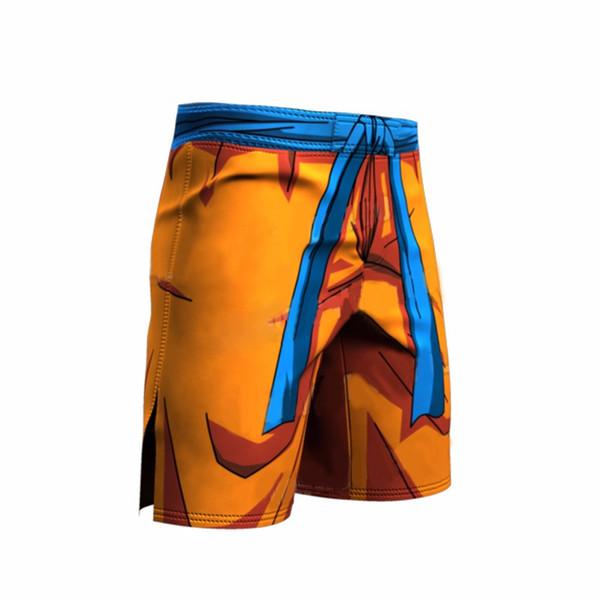 Mens Dragon Ball Z Compression Tights Base Layer Tights Men Summer Shorts Orange Blue Gray Color Size S M L XL XXL