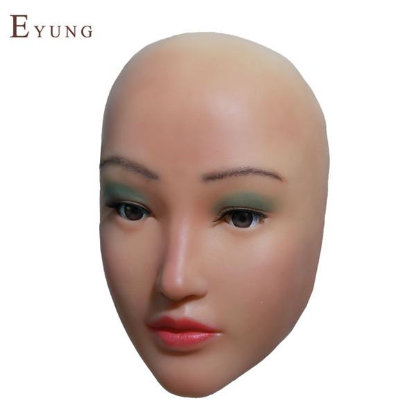 Chinesebeauty Sophia angel face máscara de silicona crossdresser mascarada shemale cosplay sissy boys máscaras femeninas para drag queen maquillaje bricolaje
