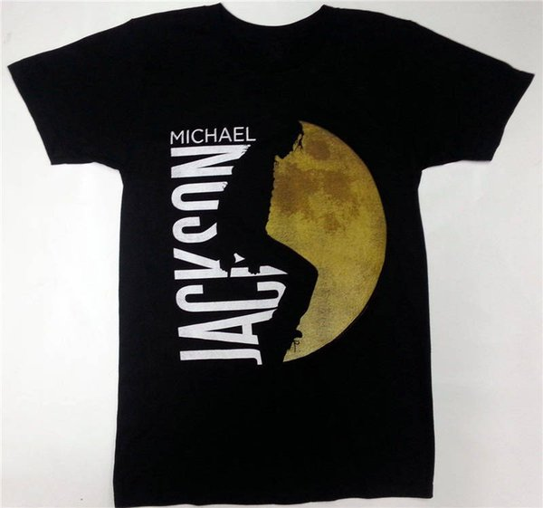 100% Хлопок Летняя Футболка О-Образным Вырезом Мужчины С Коротким Рукавом Лучший Друг Майкл Джексон Moonwalker Рубашки