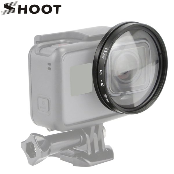 wholesale 52mm 10x Magnifier Macro Close Up Lens for GoPro Hero 6 5 Black Sports Cam Hero5 Mount Go Pro Action Camera Accessories