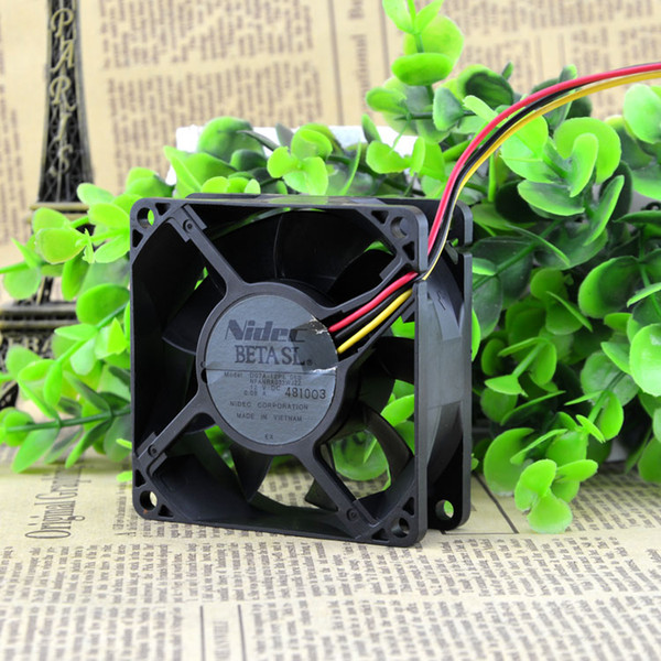 Free Delivery. D07A - 12 pl 6 b 12 v 0.09 A 7 cm 7025 3 line cooling fan