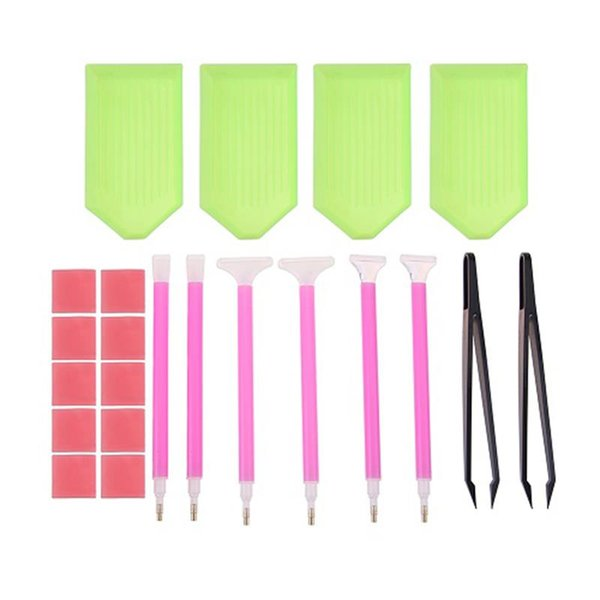 new Mosaic Diamond Embroidery Tweezers/pen/glue/plastic Tray Set DIY Diamond Painting Cross Stitch Sewing Accessories Tool