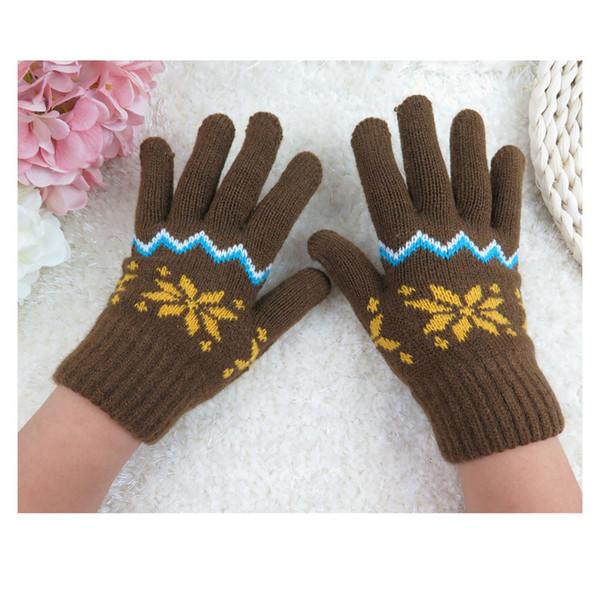 GlovesChildren Girls Boys Cute Colorful Knitted Winter Cashmere Soft Warm Mitten Gloves NM64