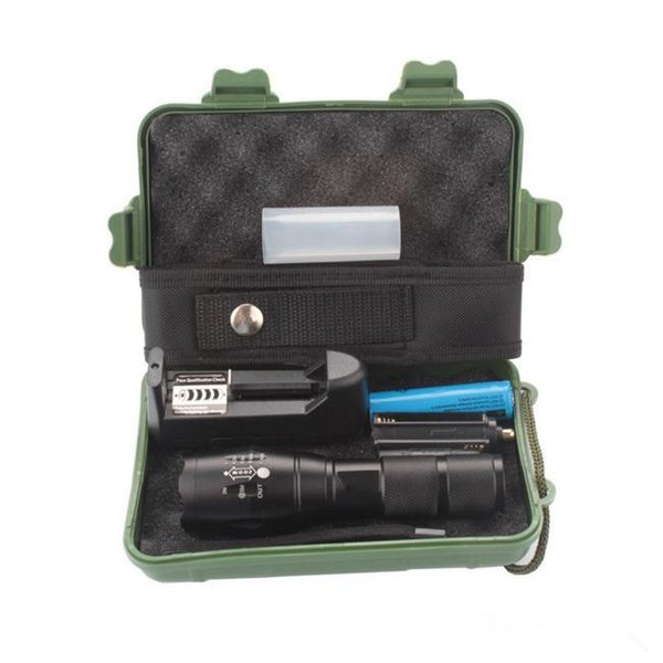 E17 CREE XML T6 3800Lm Focus Zoom G700 lanterna torcia ricaricabile torcia + batteria 18650 + confezione regalo + caricabatterie (UE o USA) Spedizione gratuita