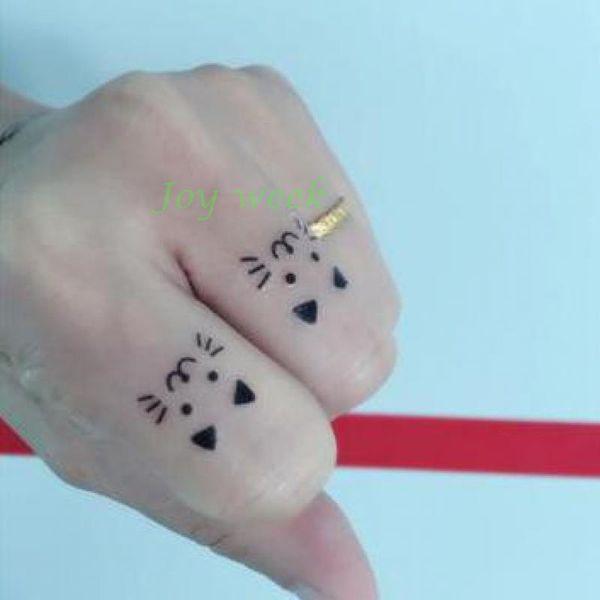 9f6b68c111668 Waterproof Temporary Tattoo Sticker Stick Pictures cute cat on finger tatto  stickers flash tatoo fake tattoos