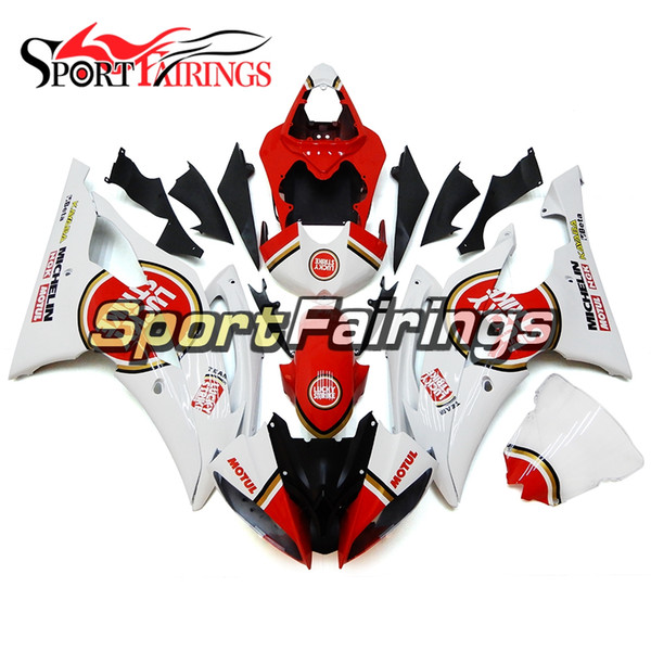 Red Circles White Full Motorcycles Fairings For Yamaha YZF600 R6 YZF-R6 2008 - 2016 09 10 12 13 Injection ABS Plastic Motorcycle Body Kits