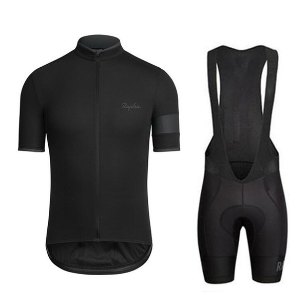 top popular 2018 Pro team Rapha Cycling Jersey Ropa ciclismo road bike racing clothing bicycle clothing Summer short sleeve riding shirt F2744 2019