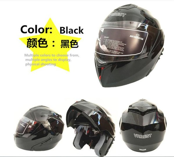 2018 New Arrival Flip Up motorcycle helmet Double Glass motorbike helmet removable and washable liner Quick Release buckle