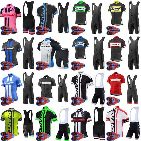 GIANT équipe cyclisme manches courtes maillot hommes Vélo porter 9D gel pad Bib Shorts définit VTT sport été Vélo Vêtements 0607i