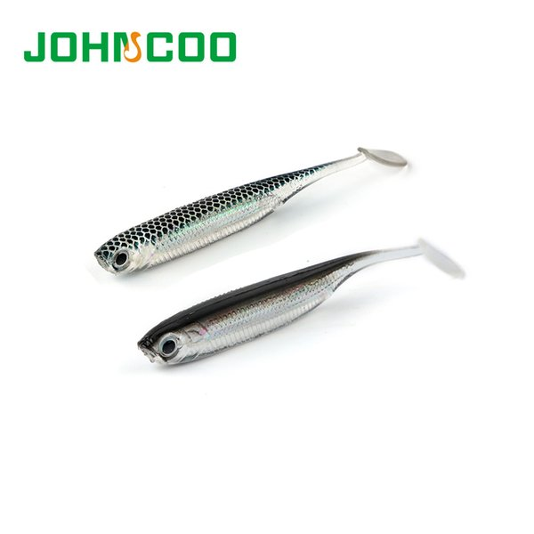 JOHNCOO 24pcs Soft Bait Fish Fishing Lure 7cm 2.1g Shad Worm Silicone Bass Minnow Bait Swimbaits Plastic Lure Isca Artificial Y1892114