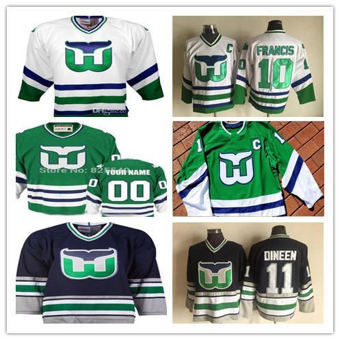 8144b831c68 Custom Vintage Hartford Whalers Hockey Jerseys Any Name Any Number 20  Sebastian Aho 49 Victor Rask