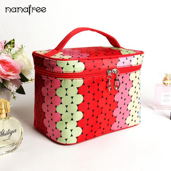 Nanafree Waterproof Portable Zipper Cosmetic Bag dot beauty Case Make Up Women Bags Organizer Storage Travel Wash Pouch