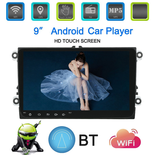 "Myfuncars 2Din 9"" Android Car gps Player for Polo Passat Jetta Tiguan Touran Car Radio for Skoda for Seat"