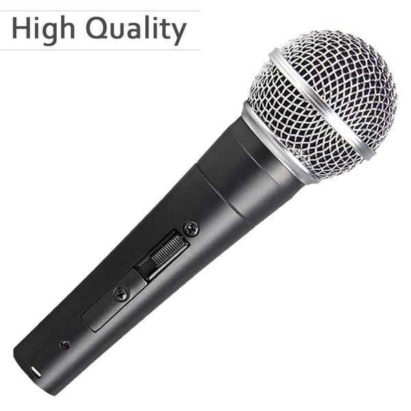 Hohe Qualität Version SM 58 58 S 58SK Professionelle Dynamische Handheld Karaoke Wired Mikrofon Mike Mic mit an / aus-schalter