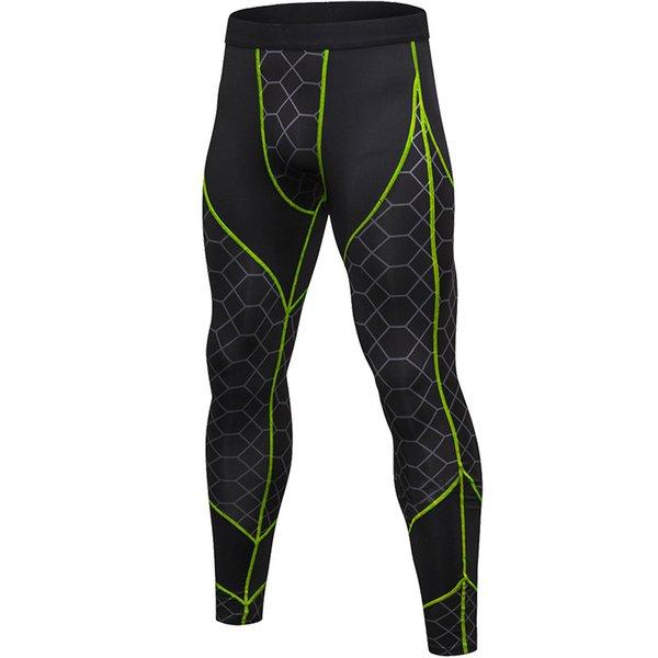 Зеленый с серым брюки