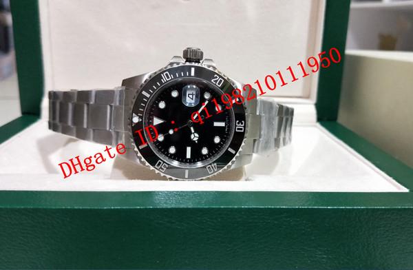 6 estilo de qualidade superior Vo5 2813 Movimento De Cerâmica Bezel De Vidro De Safira 40mm 116610 116610LV 116613 116660 116619 caixa original Mens Watch Relógios