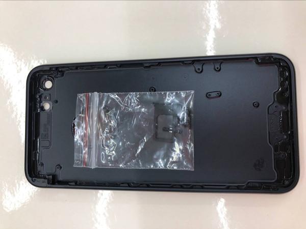 Para carcasas de iphone 7G 4.7 + juego de botones pequeños + bandeja sim, juego de tapa de batería de reemplazo de tapa trasera 7G, negro, plateado, dorado, 3 colores