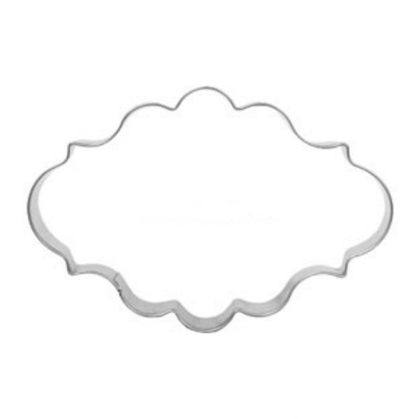 1pcs Oval Frame Cookies Cutter Molds Metal patisserie reposteria Icing Biscuit Mould Fondant Cake Decor Tool Kitchen Accessories
