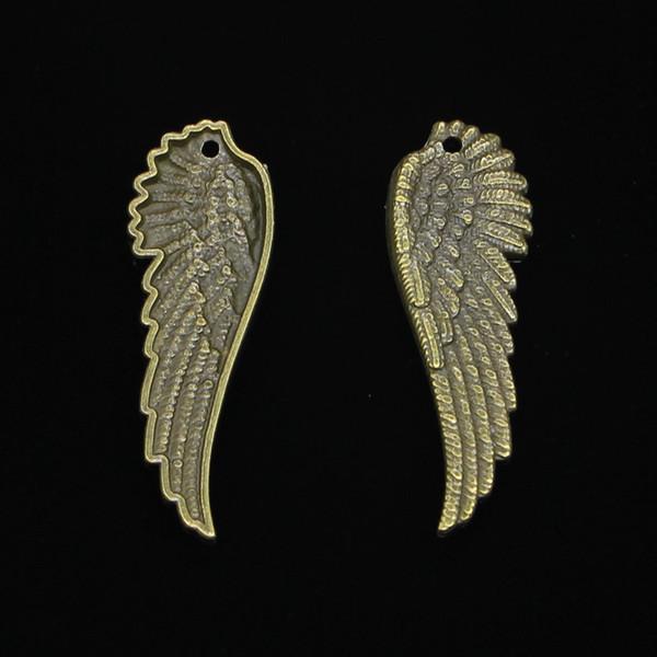 30 pcs Antigo Bronze Banhado asas de anjo Encantos Pingente fit Pulseira Colar de Jóias DIY Fazendo Acessórios 51 * 17mm