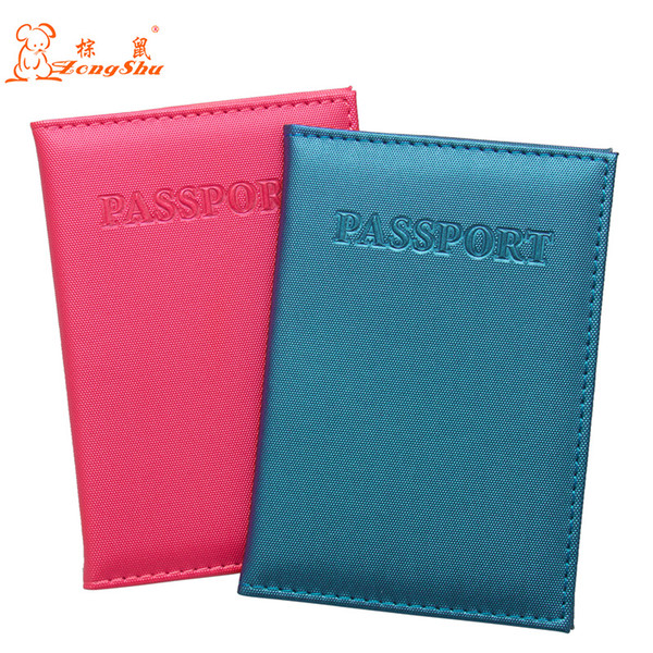 2018 New Summer English letter passport holder wallets Id hoders card case for travel documents protective passport covers pouch