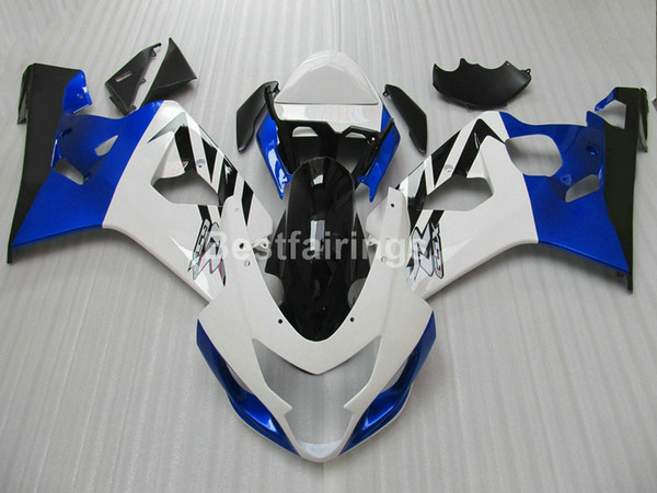 7gifts fairing kit for SUZUKI GSXR600 GSXR750 2004 2005 white black blue GSXR 600 750 K4 K5 fairings AZ13