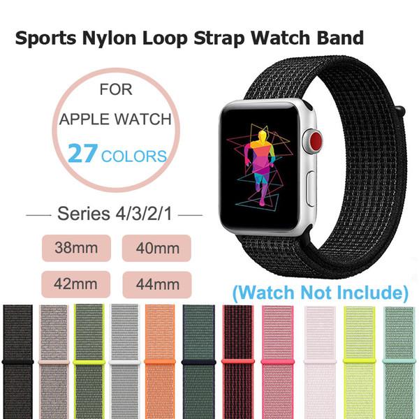 Correa deportiva para Apple Watch 38 mm 42 mm, correa de reloj deportivo de nylon con correa para iWatch Series 1/2/3/4 Pulseras de repuesto