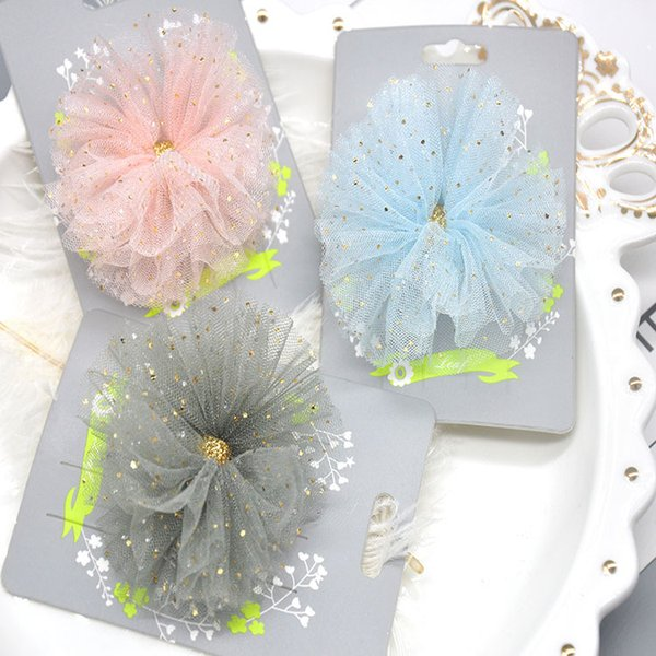 Boutique 15pcs Fashion Glitter Gauze Hair Bow Hairpins Solid Floral Bowknot Hair Clips Princess Headware Hair Accessories